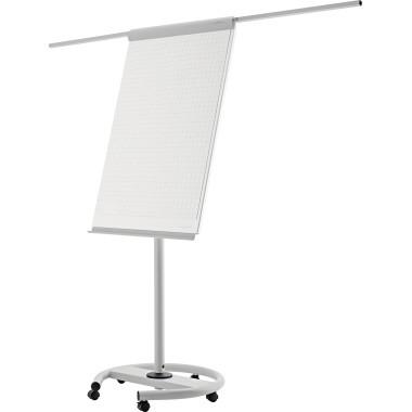 Magnetoplan Flipchart de Luxe 12270F13 mobil lichtgrau/weiß