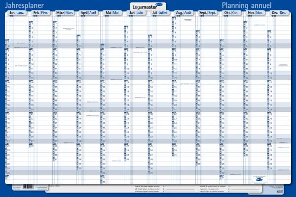 Legamaster Plakatkalender 2022 Karton, folienkaschiert