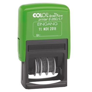 COLOP Eingangsstempel Printer S260, Green Line Eingang, mit verstellbarem Datum