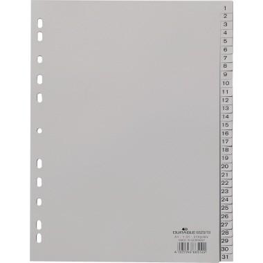 DURABLE Ordnerregister DIN A4 1-31 grau