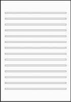 Schulheft DIN A4 Lineatur 3 mit Schreiblinien für das 3. Schuljahr