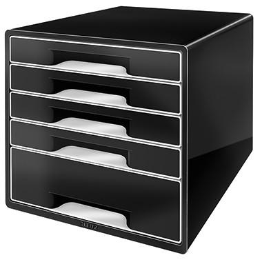 Leitz Schubladenbox CUBE 52531095 5Schubfächer schwarz