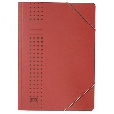 ELBA Eckspanner chic 400010103 DIN A4 150Bl. Karton bordeaux