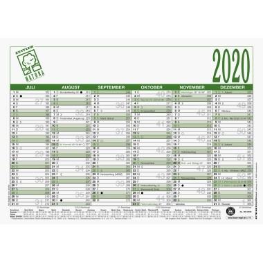 ZETTLER Arbeitstagekalender Natura 2020, DIN A4, Recyclingkarton - 907-000