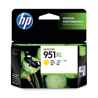 HP Tintenpatrone CN048AE 951XL 1.500 Seiten 17ml gelb