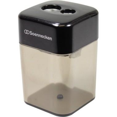 Soennecken Spitzdose 3400 doppelt Metallspitzer schwarz/transparent