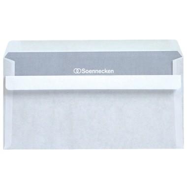 Soennecken Briefumschlag 2921 DIN Lang, 75g/m², ohne Fenster, selbstklebend weiß 1.000 St./Pack.