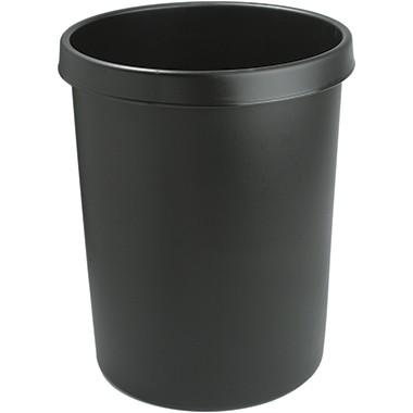 helit Papierkorb H6106295 39x48cm 45l rund Polyethylen schwarz