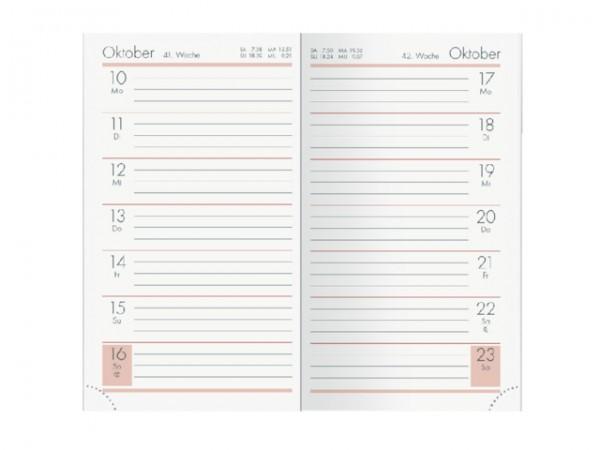 Zettler Taschenkalender 2020  - 1 Woche auf 1 Seite 540-1101