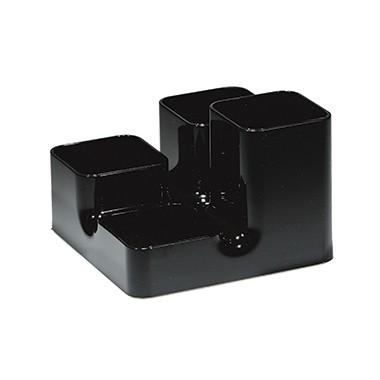 arlac Multiköcher Uni-Buttler 23401 13x9x13cm 4Fächer PS schwarz