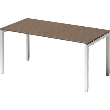 Bisley Schreibtisch DUH1608WN396 U 1600x650-850x800mm ws/nb