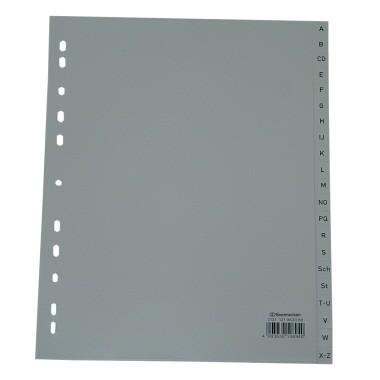 Soennecken Register 2131 DIN A4 A-Z volle Höhe Überbreite PP grau