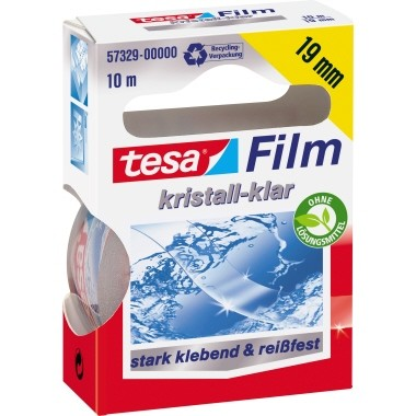 tesa Klebefilm tesafilm kristall- klar 57329-00000 19mmx10m