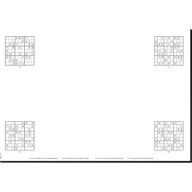 Sigel Schreibunterlage Short Break HO250 595x410mm 20Blatt