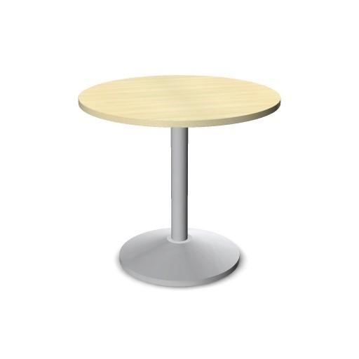 besprechungstisch rund ahorn dekor durchmesser 80 cm gestell und tellerfu alusilbern - Tisch Ahorn Rund
