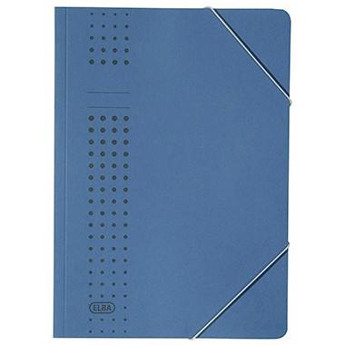 ELBA Eckspanner chic 400010108 DIN A4 150Bl. Karton dunkelblau