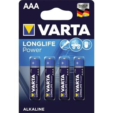 Varta Batterie Longlife Power Micro 04903110414 AAA 1,5V 4 St./Pack.