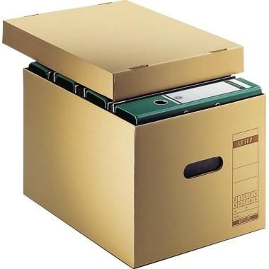 Leitz Archivbox 60810000 DIN A4 max. 7 Ordner Pappe natronbraun