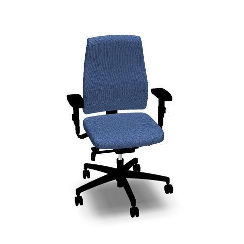 Bürostuhl Goal von interstuhl vollgepolstert, mit hoher Lehne, blau