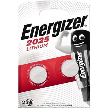 Energizer Knopfzelle CR 2025 E301021502 Lithium 2 St./Pack.