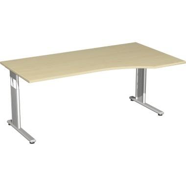 Geramöbel Schreibtisch Flex rechts S-617305-AS C-Fuß ah/si