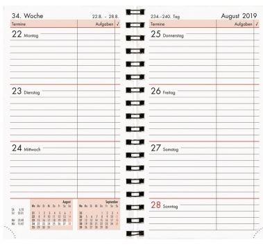 Zettler Buchkalender mit Spiralbindung 2020 8,5 x 15 cm - 576-0020
