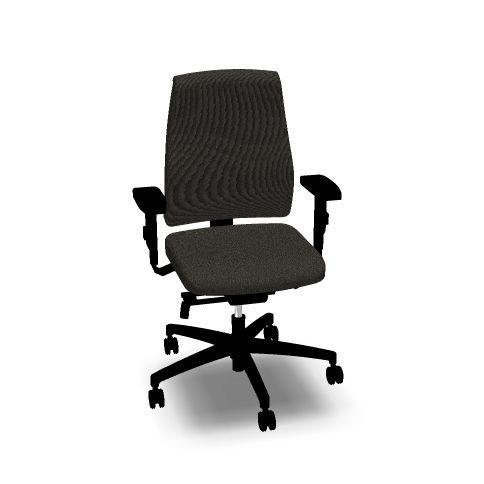 Bürostuhl Goal von interstuhl vollgepolstert, mit hoher Lehne, schwarz