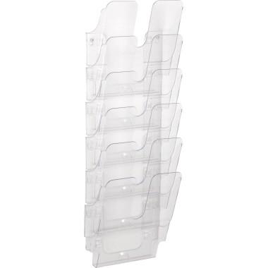 Durable Wandprospekthalter FLEXIPLUS A4 6 Fächer transparent