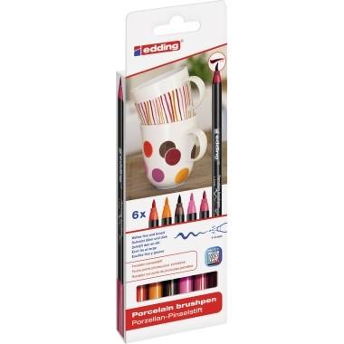edding Pinselstift 4200 4-4200-6999 Porzellan warm colours 6 St./Pack