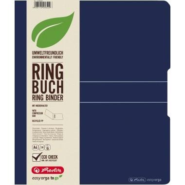 Herlitz Ringbuch 11282605 DIN A4 2Ringe 25mm dunkelblau