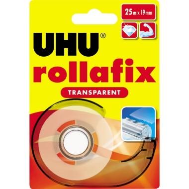 UHU Klebefilm rollafix 36965 19mmx25m transparent mit Abroller