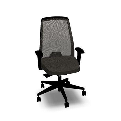 Bürodrehstuhl EVERYis1 172E schwarz mit Netzrücken von INTERSTUHL ohne Ergonomiepaket