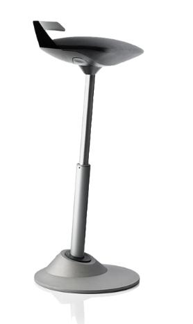 muvman FACTORY Aktiv-Sitz Stehstuhl mit besonders strapazierfähiger Sitzfläche von aeris