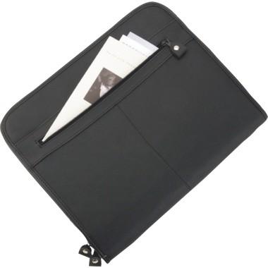 Alassio Schreibmappe MILANO 30042 36x29x5cm Lederimitat schwarz