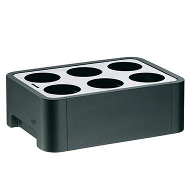 alfi Flaschenkühler Cube 1077020050 Kunststoff sw/gr