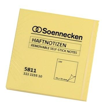 Soennecken Haftnotizblöcke 5811 75x75mm 100 Blatt gelb