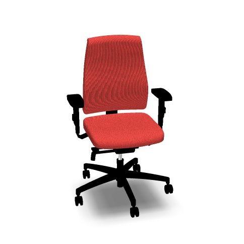 Bürostuhl Goal von interstuhl vollgepolstert, mit hoher Lehne, rot