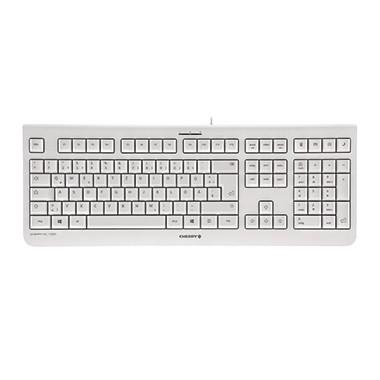 Cherry Tastatur KC1000 JK-0800DE-0 USB Flüsteranschlag weiß/grau
