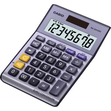 CASIO Tischrechner EURO MS-80VERII silber