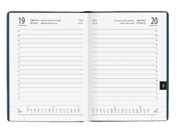 ZETTLER Taschenkalender 610 für 2020, 10 x 14 cm, Einband farbig sortiert 610-1001