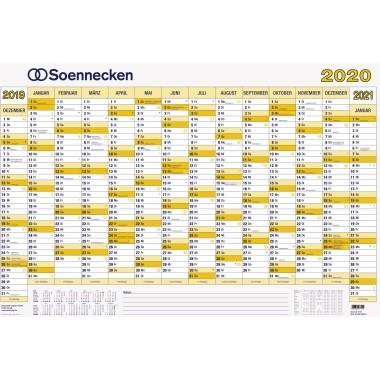 Soennecken Plakatkalender folienkaschiert 2020 100x70cm