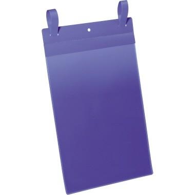 DURABLE Gitterboxtaschen A4 hoch dunkelblau 50 Stück