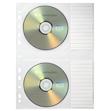 Soennecken CD/DVD Ordnerhüllen für 2 CDs 5 Stüc
