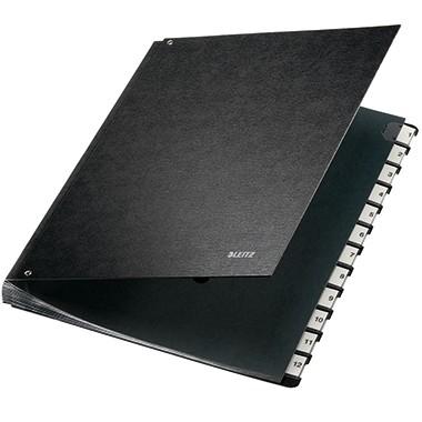 Leitz Pultordner 58120095 DIN A4 12 Fächer Hartpappe schwarz