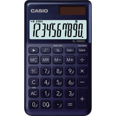 Casio Taschenrechner Sl 1000sc Ny Marineblau Taschenrechner