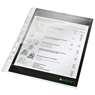 Leitz Prospekthülle 47700002 DIN A4 Multilochung 0,08mm PP glasklar