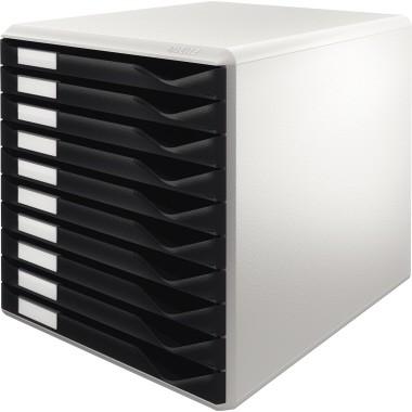 Leitz Schubladenbox 5281 DIN A4, 10 Schubfächer