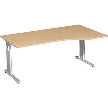 Geramöbel Schreibtisch Flex rechts S-617305-BS C-Fuß bu/si