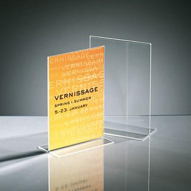 Sigel Tischaufsteller TA222 DIN A5 148x240mm T-Form Acryl glasklar