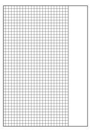 Schulheft DIN A5 kariert (5mm Karos) Lineatur 10 mit Rand, Rechenheft, Brunnen 104591002